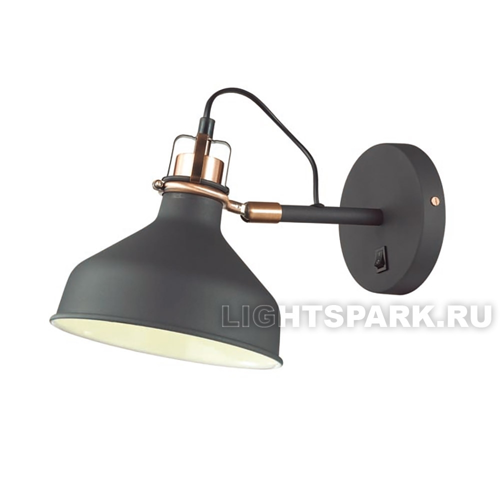 Бра Odeon light LURDI 3329/1W медь, черный