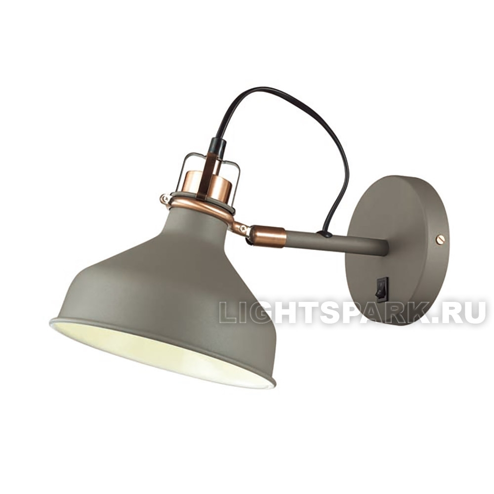 Бра Odeon light LURDI 3330/1W медь, серый