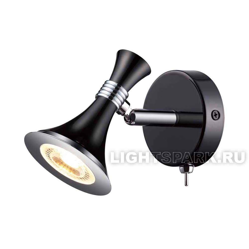 Бра Odeon light GONZAGO 3805/7WL черный