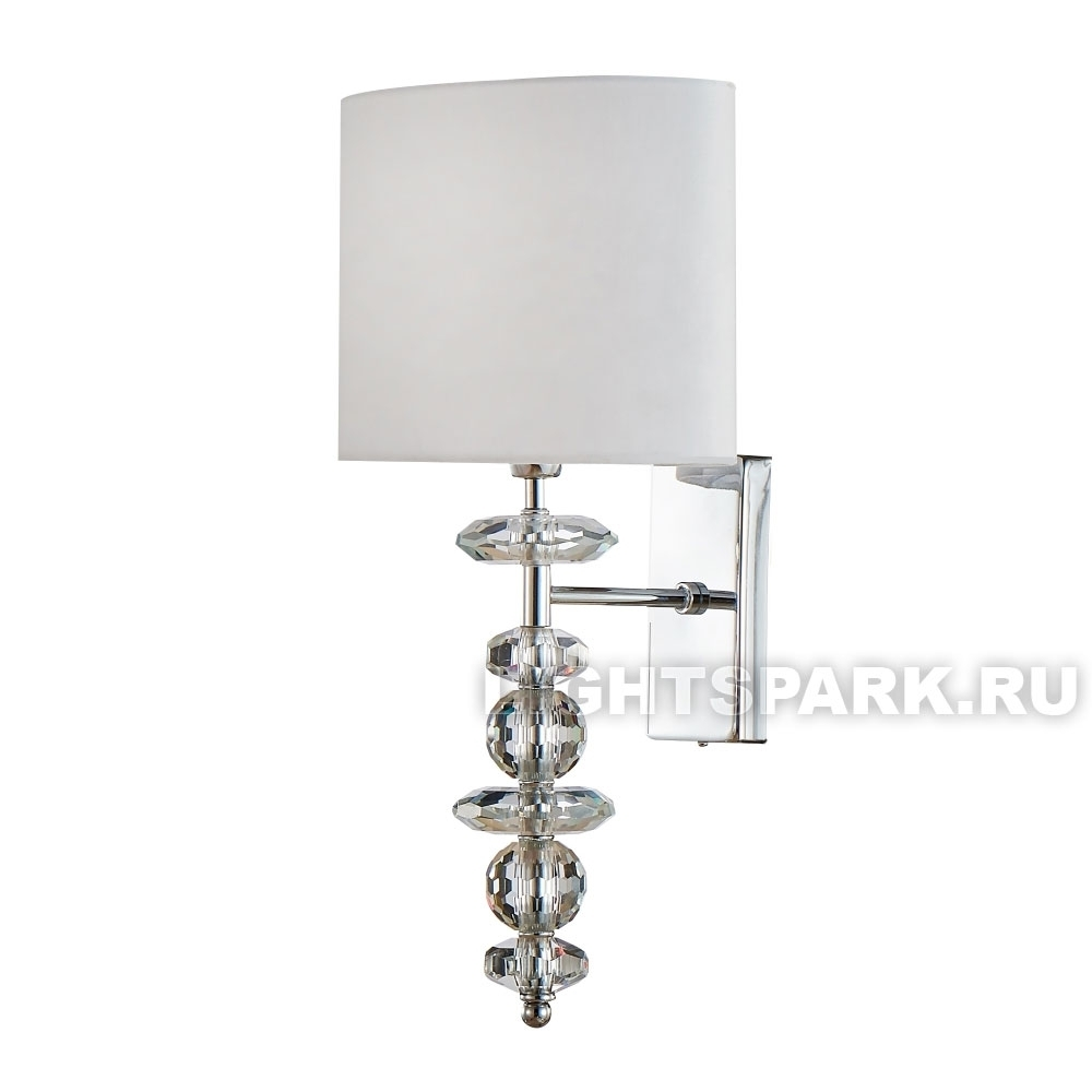 Бра Crystal Lux  ARMANDO AP1.2 CHROME хром, белый