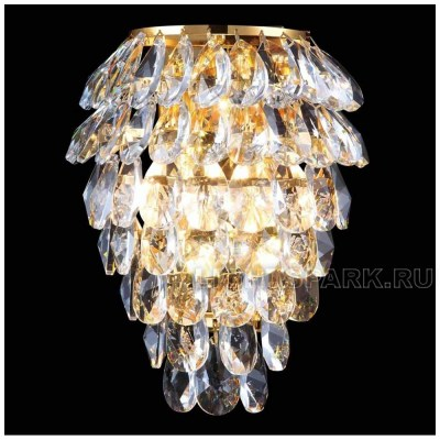 Бра Crystal lux CHARME AP2+2 LED GOLD-TRANSPARENT