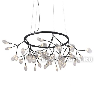 Люстра подвесная Crystal lux EVITA SP45 D BLACK/TRANSPARENT